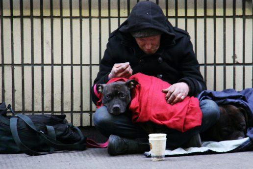 hjemløs hus forbi fattig tigge (Foto: Unsplash)