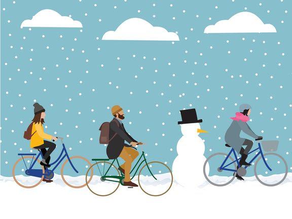 vintercyklingsuge (Illustration: Cyklistforbundet)