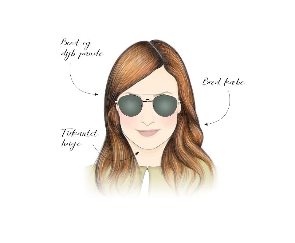 ansigtsform solbrille