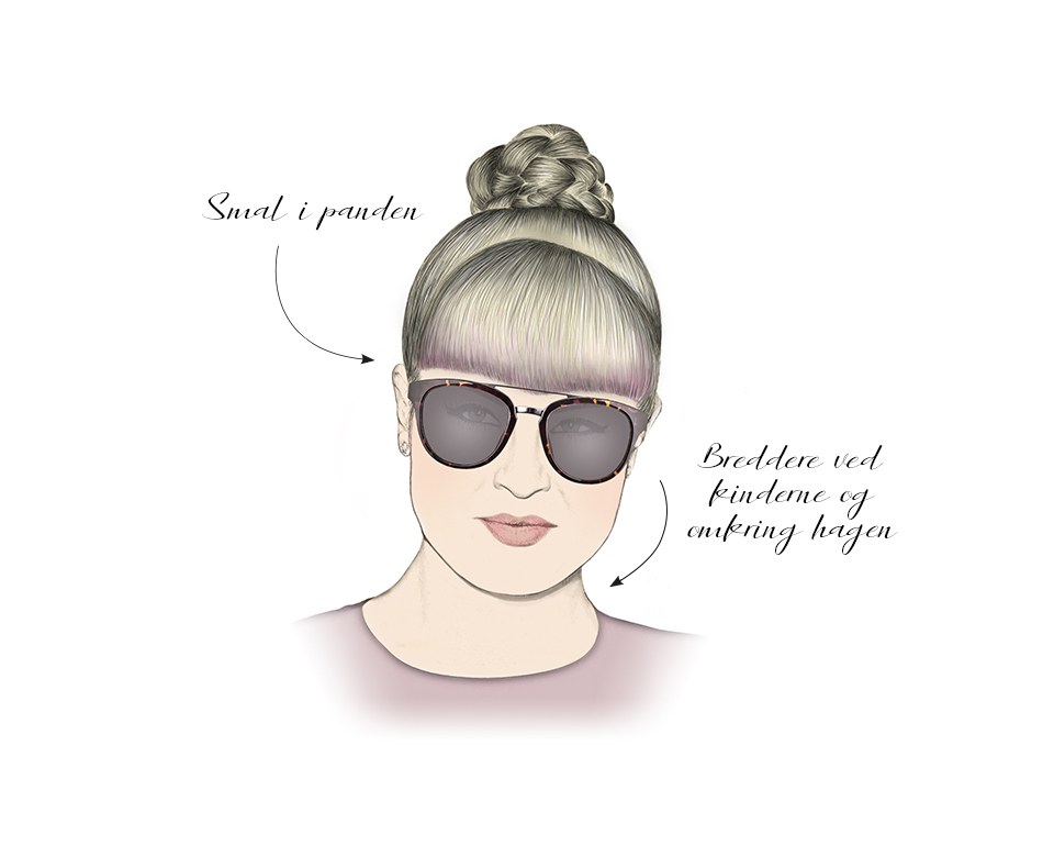 ansigtsform solbriller