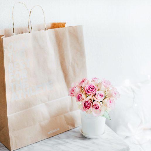 shopping roser papirspose
