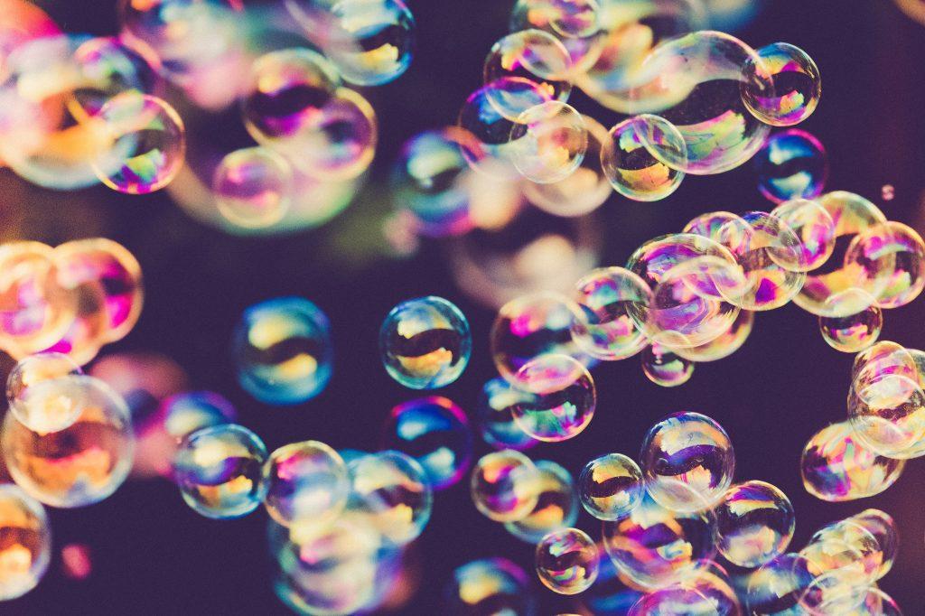 sæbebobler bobler