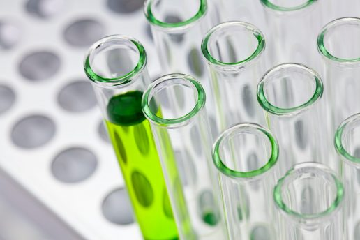 forskning reagensglas