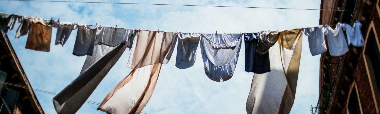tøj vasketøj tørresnor
