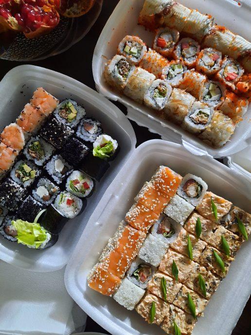 sushi plastikbakke