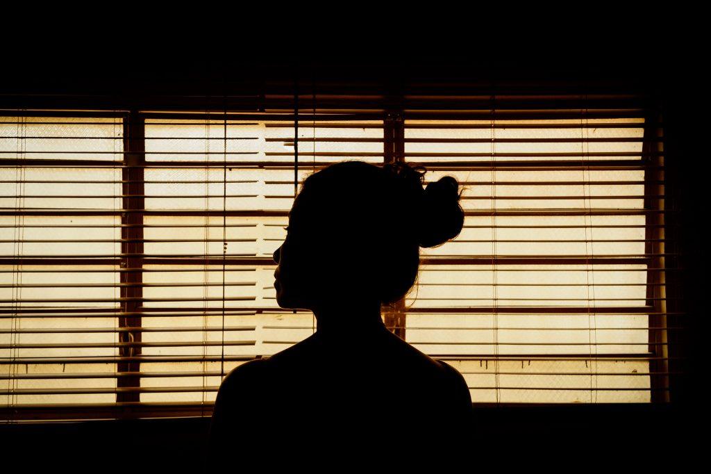 kvinde silhuet ryg